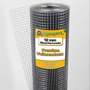 30m x 1m Fil de fer à volière Grillage Treillis métallique Grille soudée Clôture en fil de fer 12 mm x 12 mm