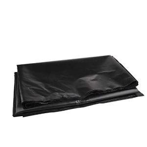 æ— Bâche de bassin de 2,8 x 2,8 m, robuste, pliable, en caoutchouc noir, film imperméable durable pour petits bassins, bassins à koï, fontaines d'eau