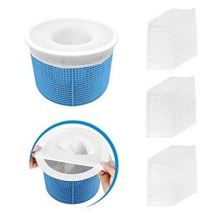 Aiglam 30 Pièces Pool Skimmer Socks, Chaussettes d'écumeur de Piscine Perfect Filter Savers pour Panier de Skimmer de Filtre, Doublure d'écran en Maille Ultra Fine pour Panier de Piscine