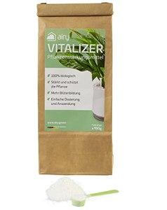 AIRY Vitalizer • Fortifiant naturel • 100 % biologique • Renfort des plantes d'intérieur, fleurs et plantes de jardin • Culture de légumes & arbres Obtarbres • Homologué • Fabriqué en Allemagne.