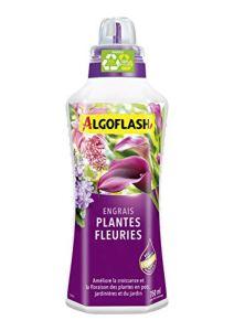 ALGOFLASH Engrais Plantes Fleuries, Bouchon Doseur Inclus, 750 mL, ALIBAL750N