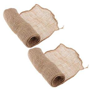 Amuzocity Gardes D'arbres d'hiver en Tissu de Jute 2pc et Enveloppes de Bandage Végétal pour Garder Au Chaud
