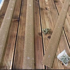 Anglia Composites Lot de 20 bandes antidérapantes pour terrasse, 50 x 1 000 mm, marron