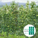 Anpro Filet Anti Oiseaux,3pcs 2 * 10m Vert Jardin Oiseau Filet de pour Plante Filet de Protection,Protéger Les Plantes, Les Fruits, Les Fleurs et Les légumes,Maille de 15 mm