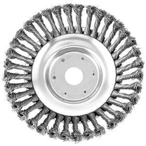 AoHao Brosse pour débroussailleuse, coupe-bordures à cône en fil d'acier, 8 pouces, pour tondeuse à gazon disque de désherbage, pelle, musc et rates du jardin (#1)
