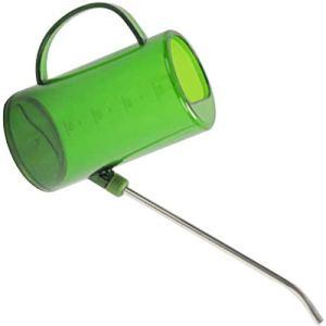 Arrosoir de 1 litre pour intérieur et extérieur, fleurs, herbes, plantes, maison, jardin, durable, anti-fuite, multifonction, portable, cylindrique en acier inoxydable, vert