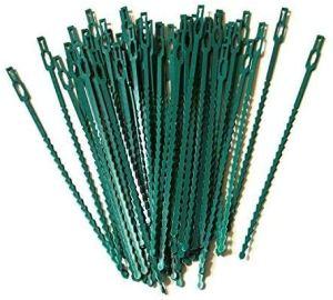 auvstar 100 liens Réutilisables en Plastique, Serre-câble Lien en Plastique Attaches Réglables Serre Câbles pour Plantes Vertes Et Arbustes Jardinage Bricolage