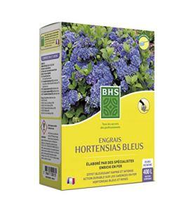 BHS ESHB800 Engrais Hortensia Bleu   800 g   Soit 400 L   Enrichi en Sulfate D'Alumine, Fabriqué en France