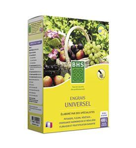 BHS ESUN800 Engrais Universel | 800 g | Soit 400 L | Fortement Concentré en Potasse Et en Azote, Fabriqué en France