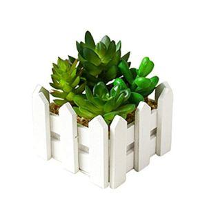BOENTA Fausse Plantes Plante Artificielle Cactus Plantes en Pots Jardin Décor Artificielle des Plantes en Plein Air Faux Plantes Décorations de pâques Green 2
