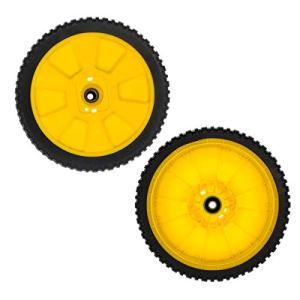 Cancanle Lot de 2 roues de tondeuse à gazon Oregon 72-115 AM115138 GY20630 pour John Deere 14PB 14SB 14SE 14PT 14ST JA65 JX75 JE75