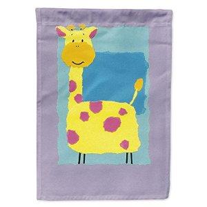Caroline S Treasures Aph8333chf Girafe Drapeau sur Toile Maison, Grand, Multicolore