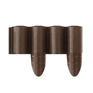 Cellfast Bordure de Jardin 5901828858512 Palissade, Marron, 10 pièces, 2,4 x 0.24 m