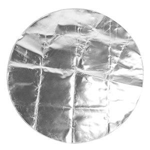 CUYT Tapis de Gril, Tapis de Foyer Gris argenté pour Grils pour fumoir pour foyers pour terrasse pour terrasse pour pelouse(Silver Gray, 60cm)