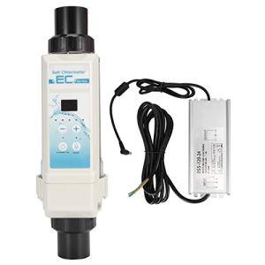 Deror Chlorateur de sel de, EC20 20g / H Spa générateur de Chlore électrolyseur chlorateur de sel de Piscine 100-240V