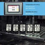 DOQAUS Mini Thermomètre Hygromètre Intérieur 2 Pièces, Numérique à Haute Précision Moniteur Humidité et Température Portable, Thermo Hygromètre Indicateur du Niveau de Confort du Maison Bureau Cuisine