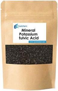 Eastchemlab® Acide fulvique de potassium minéral, acide fulvique, organique hautement naturel, dérivé de l'humus, contenant 65 % d'acide humique et 55 % d'acide fulvique, 12 % K (500 g)