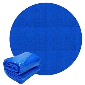 ECD Germany Bâche Solaire de Piscine | Ø 5,5 m | Ronde | 400mµ | Bleu | Couverture à Bulles PE | Isolant Thermique | Réduit Évaporation de l'eau | Chauffage d'eau par l'Énergie du Soleil | Protecteur