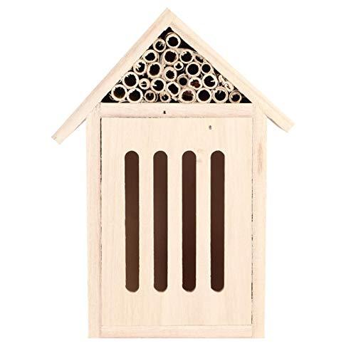 Emoshayoga Maison d'insectes de Conception multifonctionnelle Belle Maison d'abeille d'insecte Non Toxique sûre, pour Les Insectes, pour l'extérieur, pour la décoration de Jardin(Type C)