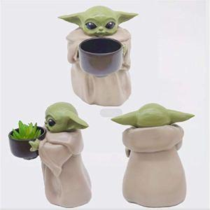 FA.cbj3 Floepx bébé Yoda Plante Pot de Fleur résine décoration Jardin Dessin animé créatif noël Cadeau d'anniversaire décoration Principale Plantation Plante Pot de Fleur