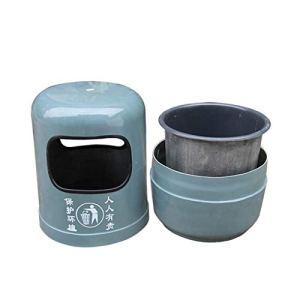 FEANG Poubelle Poubelle de Motif en marbre, Poubelle avec Godet intérieur et bac de suie, poubelles en Plein air Recyclage bacs rangements pour la Cuisine à la Maison Boîte à ordures (Color : D)