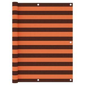 Festnight Écran de Balcon Paravent Extérieur Brise-Vue Orange et Marron 120×600 cm Tissu Oxford