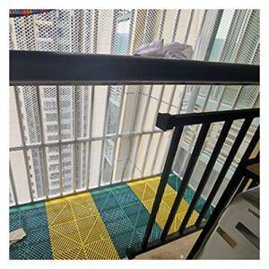 Filet De Sécurité Filet De Protection Pour Balcon Filet Pour Enfants Filet De Clôture Filet De Clôture Filet D'escalier En Polyester Haute Résistance Filet De Sécurité(Size:0.8CM Aperture,Color:blanc)