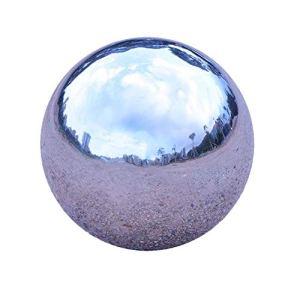 GDglobal Boules en acier inoxydable pour décoration de jardin 200 mm Argenté