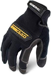 General Utility Spandex Gloves, 1 Pair, Black, Medium