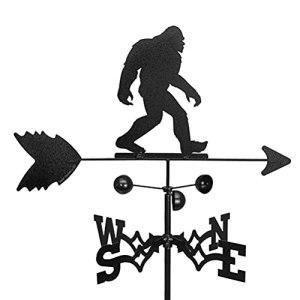 Girouette d'extérieur en métal avec accessoires de montage – Style antique – Noir – Indicateur de direction – En forme de chouette