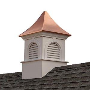 Good directions Smithsonian Newington coupole en vinyle avec toit en cuivre, 66x 109,2cm 60″ x 99″ blanc