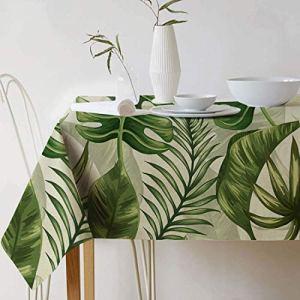 Gwell – Nappe carrée lavable – .En lin oxford – Facile d'entretien anti-taches – Plus de couleurs et de tailles au choix, Feuille de h., 240*140cm