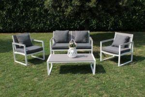 H inHouse srls Sirio Salon de jardin, blanc, dimensions D 125 x 57 x 77 cm, P 66 x 57 x 77 cm, T. 110 x 59,5 x 34,5 cm