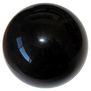 HomDSim Boule de 35 cm de diamètre en acier inoxydable poli brillant brillant pour le jardin ou la maison.