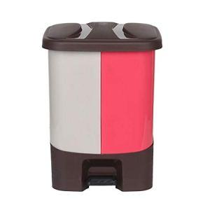 Hong Yi Fei-Shop Poubelle Poubelle extérieure classifiée Peut contenir des déchets en Plastique de Jardin de Fleurs Grande capacité 20L (Color : Pink)