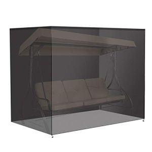 Housse de Protection pour Balancelle 3 Places 220 x 125 x 170 cm 420D Oxford Couverture Résistant à l'hiver Imperméable Noir