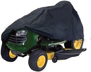 Housse de Tracteur à Gazon, Housse de Tondeuse à Gazon étanche, étanche, Protecteur de remorque, Housse Anti-poussière pour Tracteur de Jardin (Color : 72″ L×54″ W×46″ H)