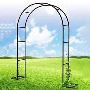 HRXQ Arceau à Rosiers Arche De Jardin en Métal Arceau Rosier Support pour Plantes Grimpantes – Couleur:Noir,8 Tailles