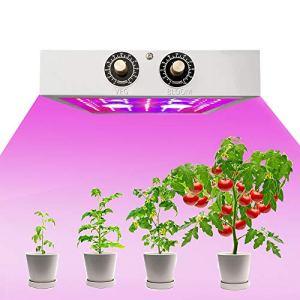 HUATINGRHDL Spectre Lumière 1500W Lampe de Croissance, LED Horticole Floraison Complet Spectre LED Culture, Dimmable LED Grow Light Lampe avec Variateur Veg/Bloom Canal pour Indoor Grow Double Puce