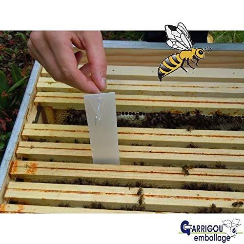 Jembal- Lot 2000 bandelettes lanières Carton Gris Format 220×35 m/m Contre Le varroa varoa Apiculture Bande Carton