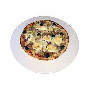 Just-Sale Pierre à pizza ronde de qualité supérieure – Diamètre : 38 cm – Pour barbecue à gaz et four.