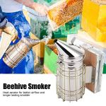 Kit de démarrage pour l'apiculture, Fumeur de ruche pratique et sûr, facile et durable, acier inoxydable pour apiculteur calme les abeilles La ferme apicole empêche les piqûres