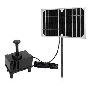 LARS360 5W Solaire Pompe pour fontaines Pompe à eau solaire Pompe de bassin solaire pour décoration de petit étang de jardin extérieur avec 4 Buses