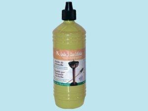 Liquide à la citronnelle 1 l anti-moustiques pour flambeaux.