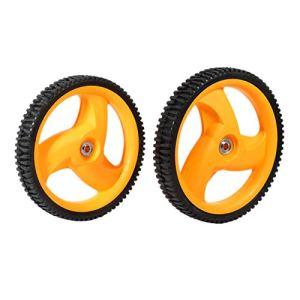 Lopbinte Lot de 2 roues arrière pour tondeuse à gazon Husqvarn McCulloch 5324035-09, 5324327-49, 532403509, 532432749