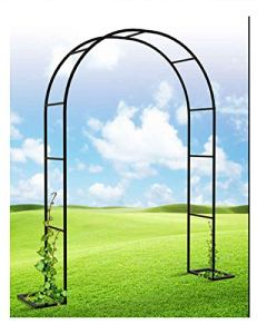 LYBC Arcade De Rosiers,Arche pour Plantes Grimpantes en Métal Robuste,Tonnelles De Mariage Décoration De Fête De Mariée Arceau De Jardin,6 Tailles