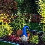 Minitichy Nain de Jardin GNOME Fait à la Main GNOME Rouge, Statue extérieure, Sculpture Artisanale en résine, Figurines Simples et élégantes décoration de Statue de Jardin d'aménagement paysager