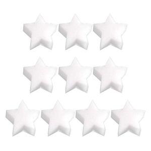 MOVKZACV Lot de 10 éponges absorbantes pour jacuzzi, spa, piscine – Réutilisables – Jolies formes – Éponges flottantes de 2 types de formes – Étoile à cinq pointes, pieuvre