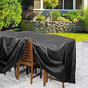 NAIGELAN Couverture Bâche de Protection de Table Imperméable Coupe-Vent Anti-UV Bache de Protection Table pour Meuble Extérieur Jardin