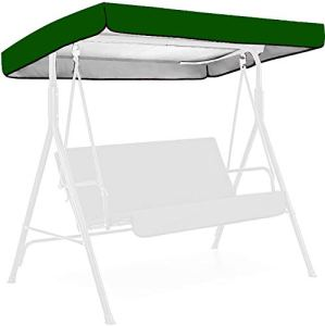 Patio Swing Canopy Replacement Accessories, 75 * 47 * 7 inch 190T Material Replaceable Swing Top Cover, Outdoor Swing Waterproof Dustproof Cover (Green,75.20 * 47.24 * 7.09 inch)